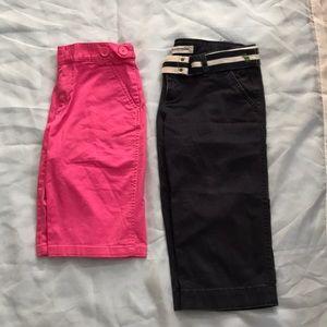 RL Bermuda shorts and Abercrombie Capri pants